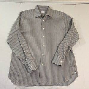 Men's Ermenegildo Zegna Striped Dress Shirt 17